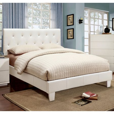 Furniture of America Avara Rhinestone Tufted Platform Bed ()