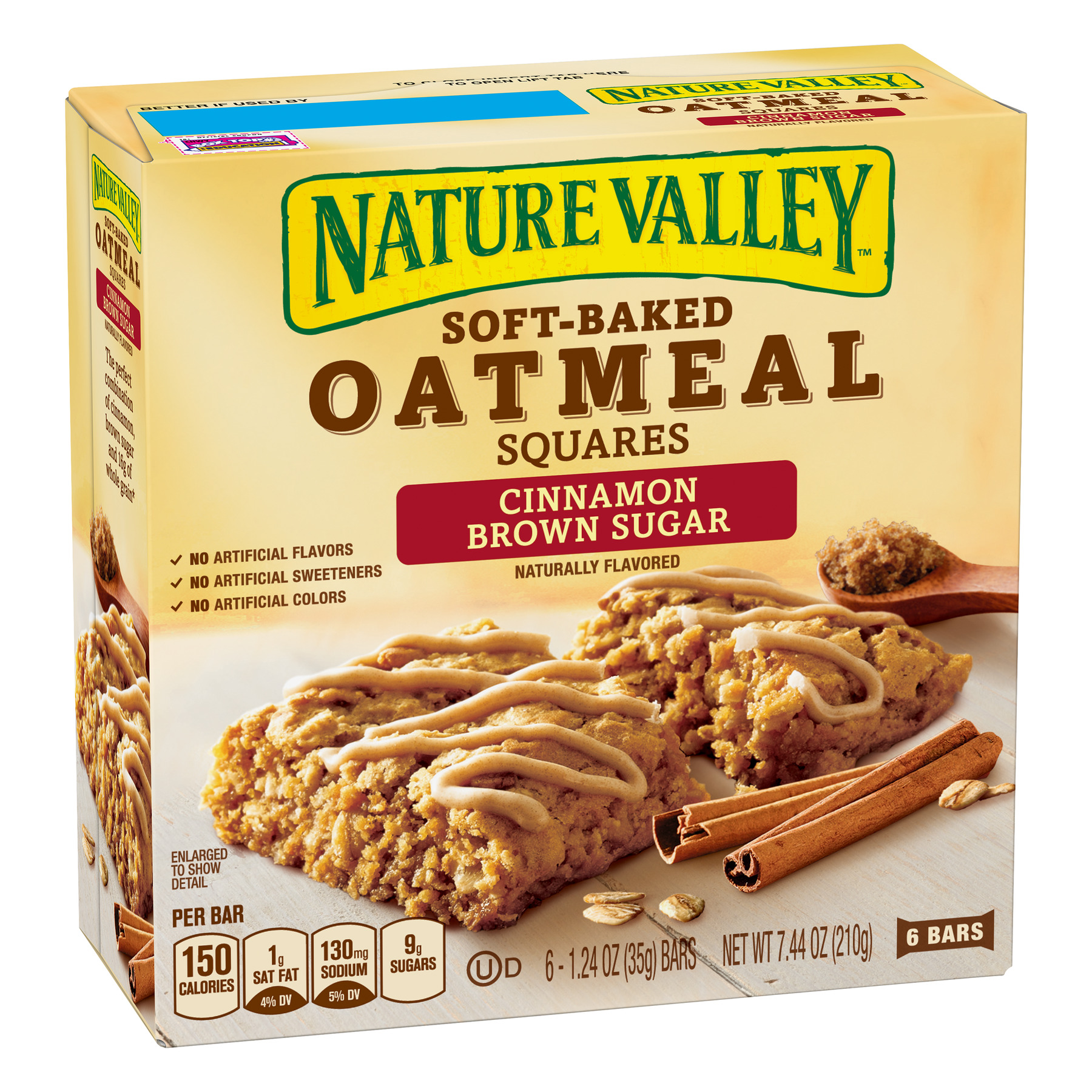 Nature Valley Soft Baked Oatmeal Squares Cinnamon Brown Sugar, 7.44 oz