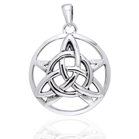 Druids Amulet - Triquetra Knot and Pentacle Sterling Silver (Pentacle Pendant)