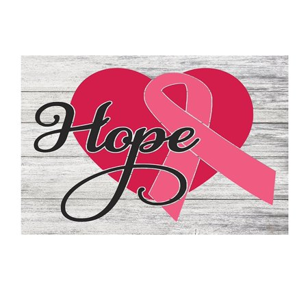 Breast Cancer Decor (Hope Breast Cancer Ribbon Metal Decor Sign - 12