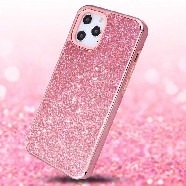 Apple iPhone 12 PRO MAX /6.7 Glitter Sparkle Bling Case Hybrid Sparkling  Dual Layer Rugged TPU Pink Protective Phone Cover for iPhone 12 Pro Max -  Walmart.com - Walmart.com