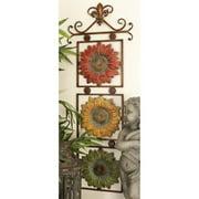 DecMode Fleur De Lis Sunflower Wall Sculpture