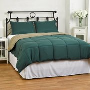 Reversible Comforter 2-Piece Set - Down Alternative Medium Weight by ExceptionalSheets