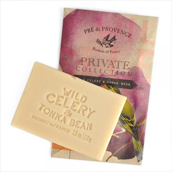 Pre de Provence Private Collection French Soap Bar (110 Gram) - Wild Celery & Tonka Bean