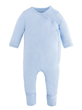 Under The Nile Baby Boy Organic Cotton Side-Snap Footie Pajamas