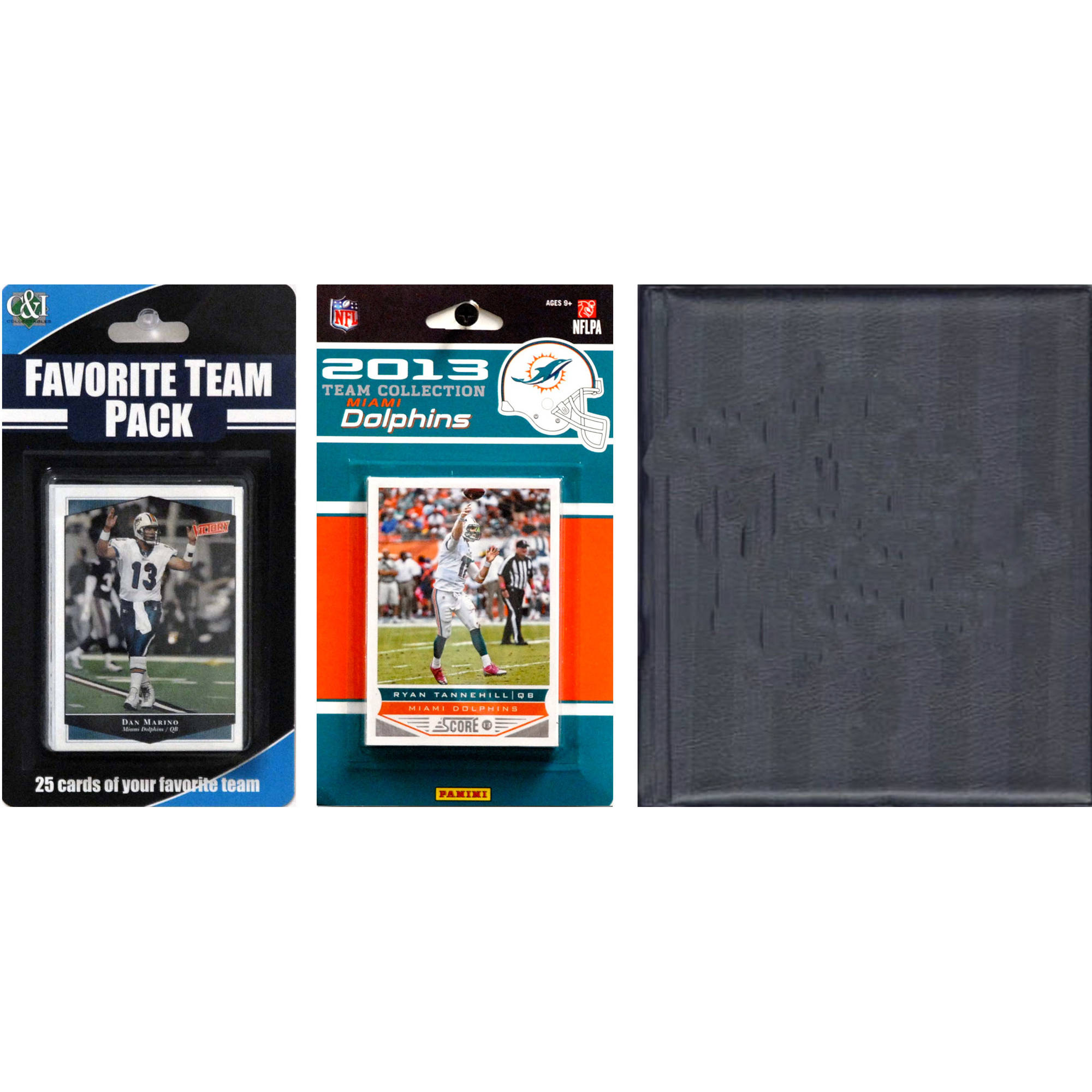 C&I Collectables NFL Miami Dolphins Licensed 2013 Score Team Set and Favorite Player Trading Card Pack Plus Storage Album