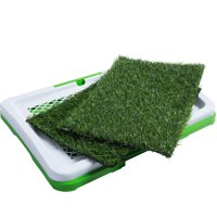 Paws & Pals Dog Training Indoor Potty Trainer (Includes 2) Synthetic Grass Pee Pads for Pet Cat Puppy Outdoor Restroom Patch