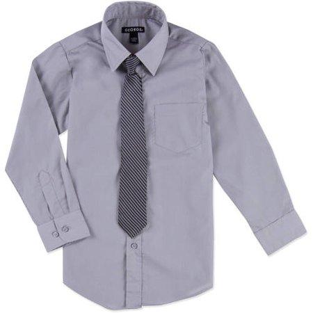 George Packaged Dress Shirt-Tie (Little Boys & Big Boys)
