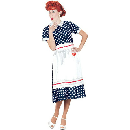 I Love Lucy Polka Dot Dress Adult Halloween Costume - Prisoner Of Love Costume Halloween