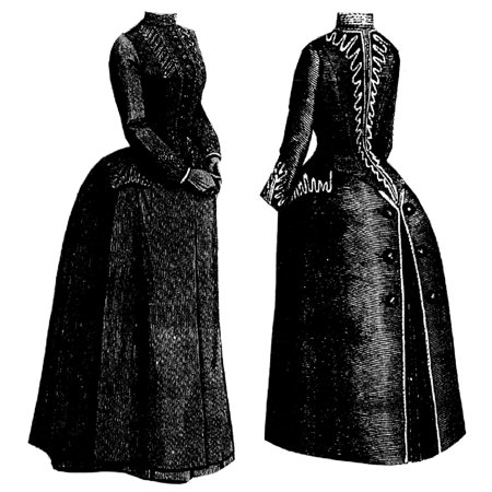 Sewing Pattern: 1887 Demi-Season Cloak Pattern](Hooded Cloak Pattern)