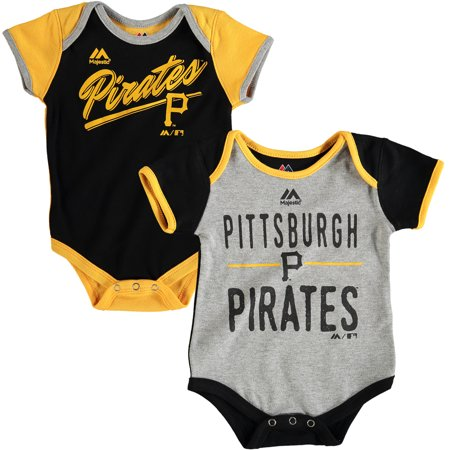Pirate Funny Infant Bodysuit - Pittsburgh Pirates Majestic Newborn & Infant 2-Piece Bodysuit Set - Black/Gold