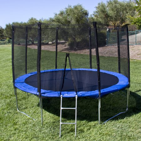 12ft Outdoor Round Trampoline and Safety Enclosurefor Kids Adults 12' Trampoline on