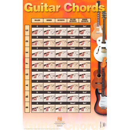 Hal Leonard Guitar Chords (Poster) - Walmart.com