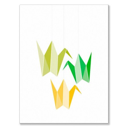 Oopsy Daisy Canvas Wall Art Origami Cranes Mobile 18x24 By Halfpence Design