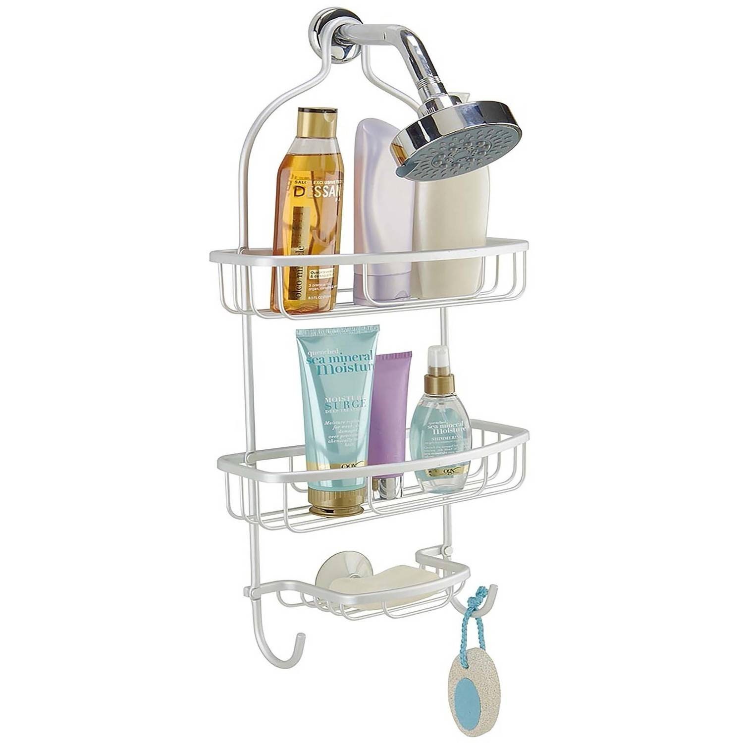 Bath Bliss Flat Wire Shower Caddy, Aluminum by Kennedy International, INC.