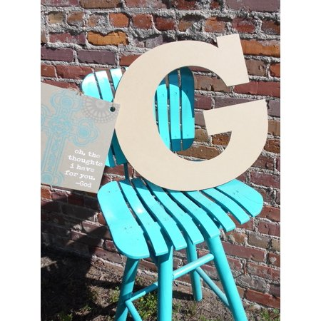 Wooden Letter, Unpainted Wood Craft Letter, 12'' G Rockwell](Letter G Halloween)