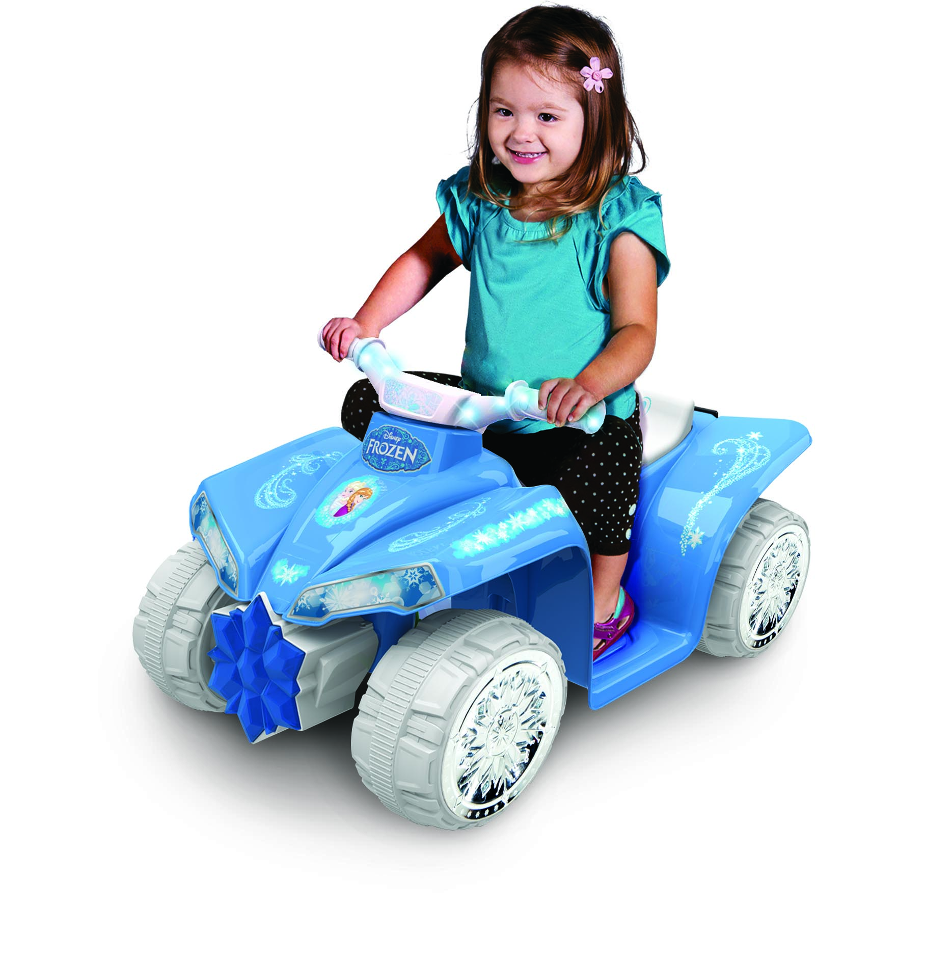6V Light-Up Frozen Quad with Chrome snowflake wheel covers