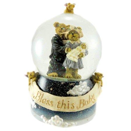 James & Kathleen Water Globe Christening Bearstone - Resin & Glass 6.00 IN, By BOYDS BEARS RESIN