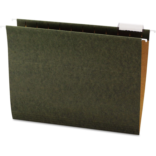 Office Impressions Letter Hanging File Folders, 1/5 Cut, Standard Green, 25-Pack