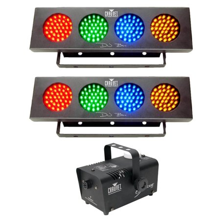 CHAUVET HURRICANE H700 H-700 Fog/Smoke Machine + 2) DJ BANK LED RGBA Wash Lights Chauvet Dj Bank