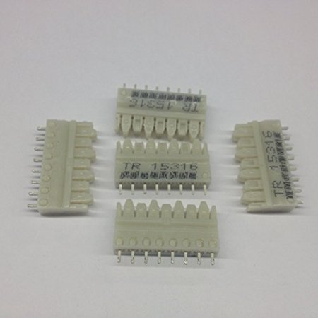 S110D-4 Connecting Blocks, 4 Pair 110 Punchdown to Solder Tail, No Color Code (5 per pack) - S110D-4 ()