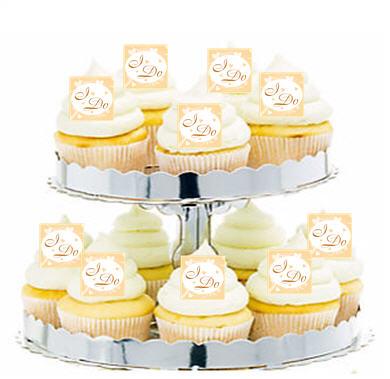24pk Wedding I Do  Edible Cupcake  Decoration Toppers / Picks