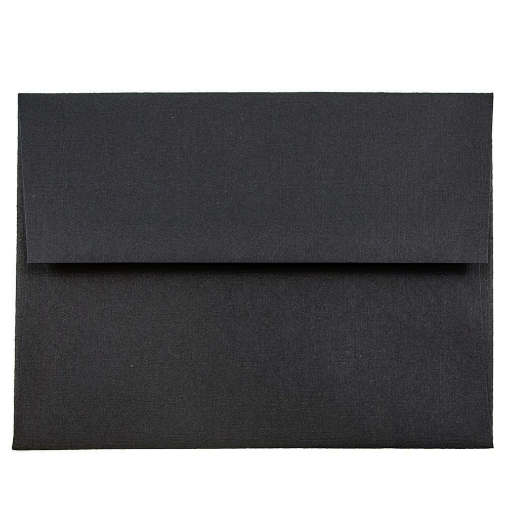 JAM Paper A2 Invitation Envelope 4 38 x 5 34 Black Linen
