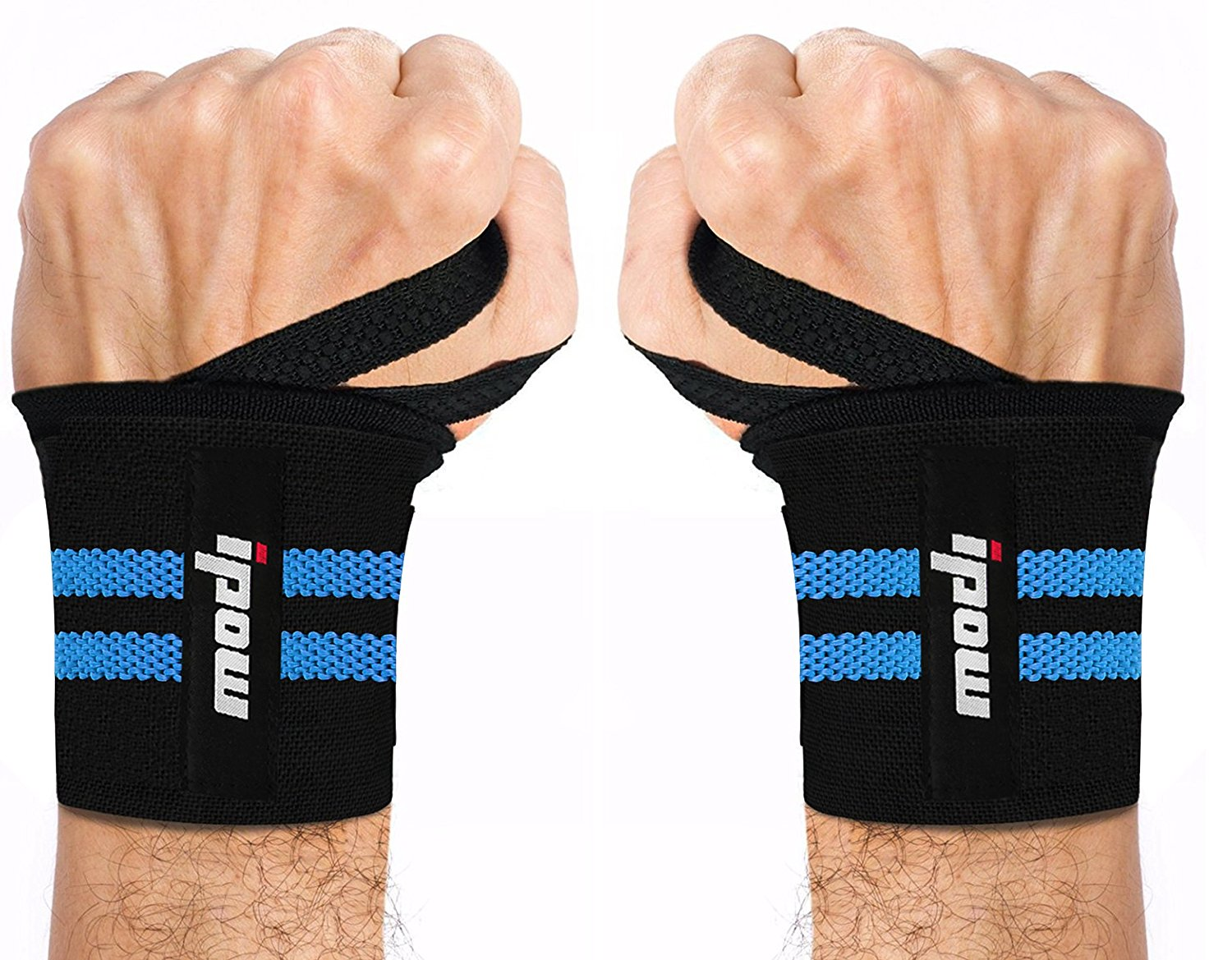 "IPOW Reversible Sports Wrist Brace with Thumb Stabilizer Adjustable 18.5"" Training Wrist Support Wrap GYM Bandage... by IPOW"