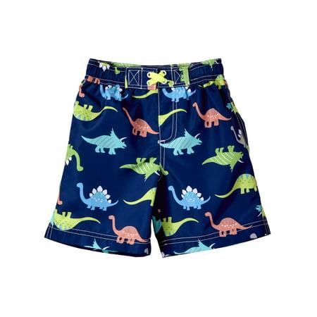 WIPPETTE KIDS Dinosaur All Over Print Board Short Swim Trunk (Baby Boys & Toddler (Boys Swim Board Shorts)