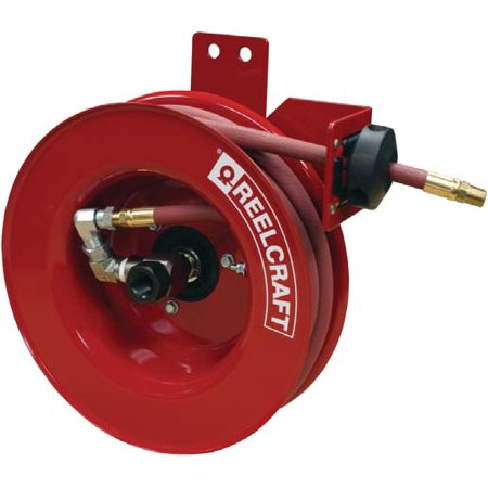 Reelcraft 4425 Olpsmr 1 4  X 25 Ft Side Mount Air Water Hose Reel  Inlet Right