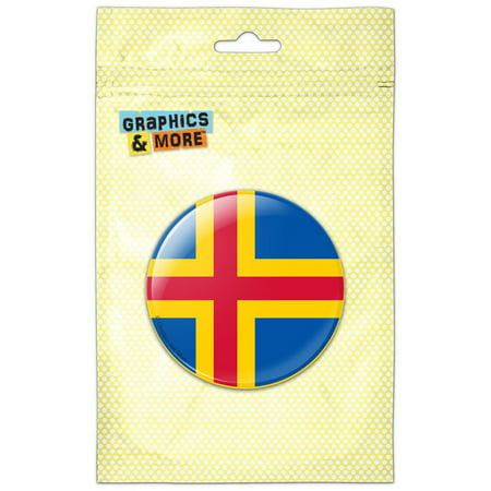 Aland National Country Flag Pinback Button Pin Badge