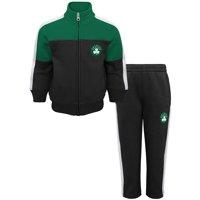 Boston Celtics Toddler Rebound Full-Zip Jacket & Sweatpants Set - Black/Kelly Green