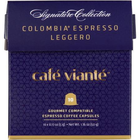 CafeViante Colombia Espresso Leggero Coffee Capsules, 60pk - Nespresso Compatible