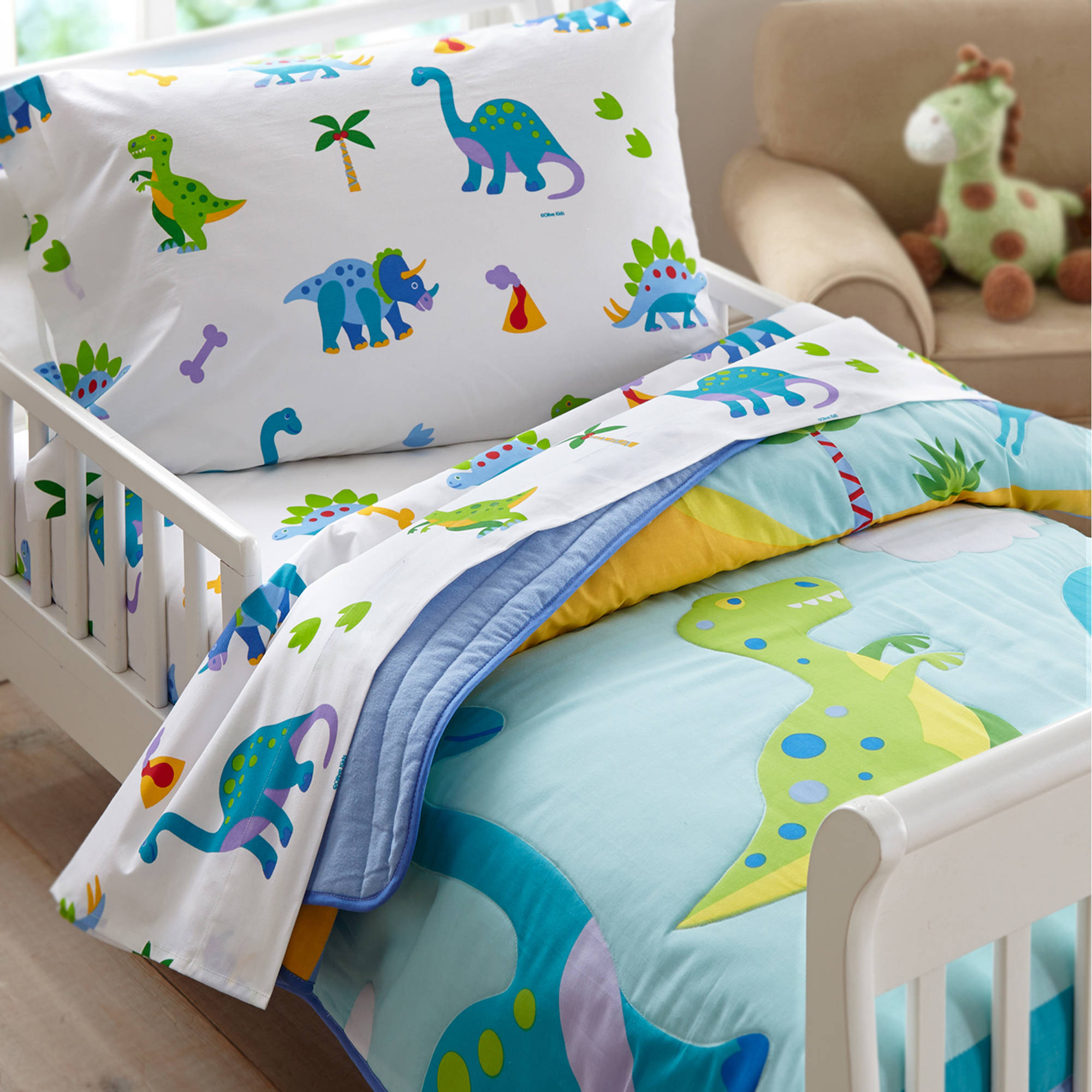 Olive Kids Dinosaur Land Toddler Bedding Comforter