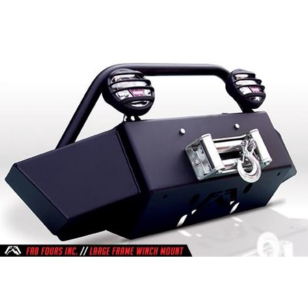 Fab Fours GM15-N3060-1 Winch Mount  Large Frame Mount/ Fits Winches Up To 16500 Pounds; Mounts To Frame Through OE Tow Hook Slots; Powder Coated; Matte Black Steel - image 1 de 1