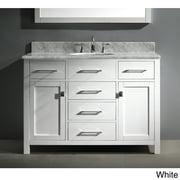VIRTU USA  Caroline 48-inch Carrara White Marble Single-sink Bathroom Vanity Set