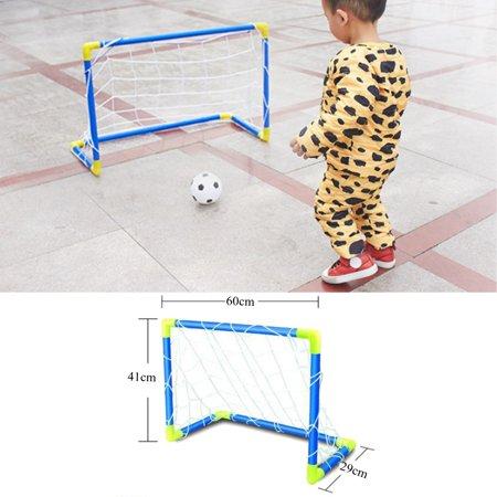 Folding Mini Football Soccer Goal Post Net Set with Pump Kids Sport Indoor Goals & Nets Outdoor Games Toys Child Birthday Gift Plastic](Fieldgoal Post)
