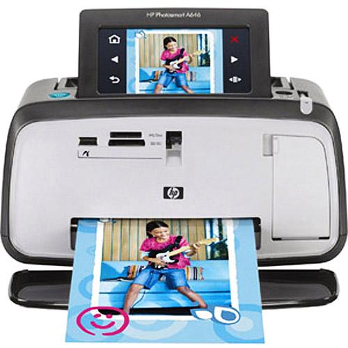 HP Portable Photo Printer Photosmart A646 Black Bluetooth...