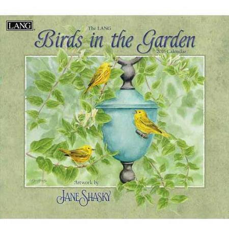 Lang birds in the garden 2016 wall calendar for Gardening 2016 calendar