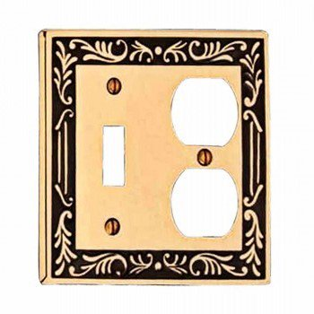 Victorian Supply Outlet - Victorian Switch Plate Toggle Outlet Antique Solid Brass