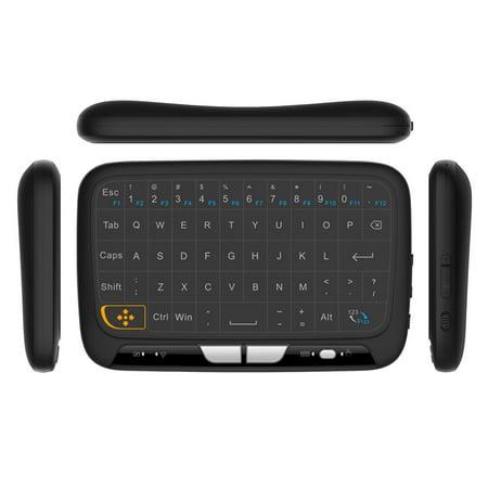 Docooler H18 2.4GHz Clavier Sans Fil Télécommande Touchpad Complète Mode Souris Clavier avec Grand Pavé Tactile Retour de Vibrations pour Smart TV Boîte TV Android PC Portable - image 5 of 7