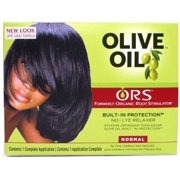 Organic Root Stimulator Olive Oil No Lye Relaxer Kit, Normal (Pack of 2)