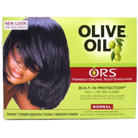 Organic Root Stimulator Olive Oil No Lye Relaxer Kit, Normal (Pack of