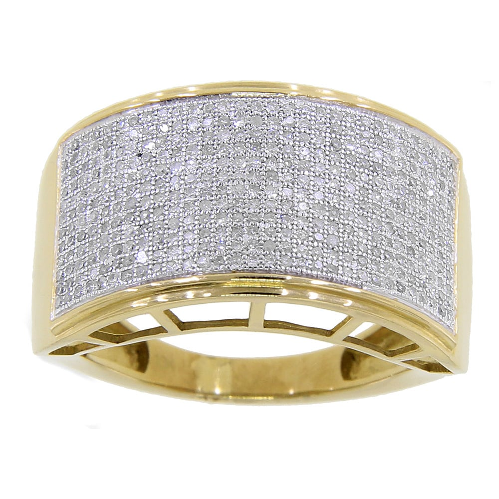 KC Jewelry 10k Yellow Gold Men's 7/8ct TDW Diamond Ring