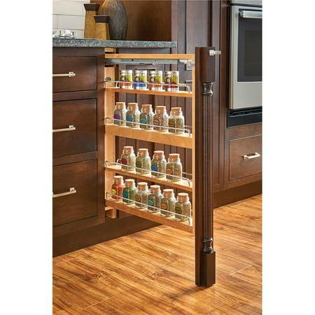 Rev A Shelf RS432.BFSC.3C Base Filler Blumotion Soft Close Wood Base Filler with Shelves, 3 in. - Maple