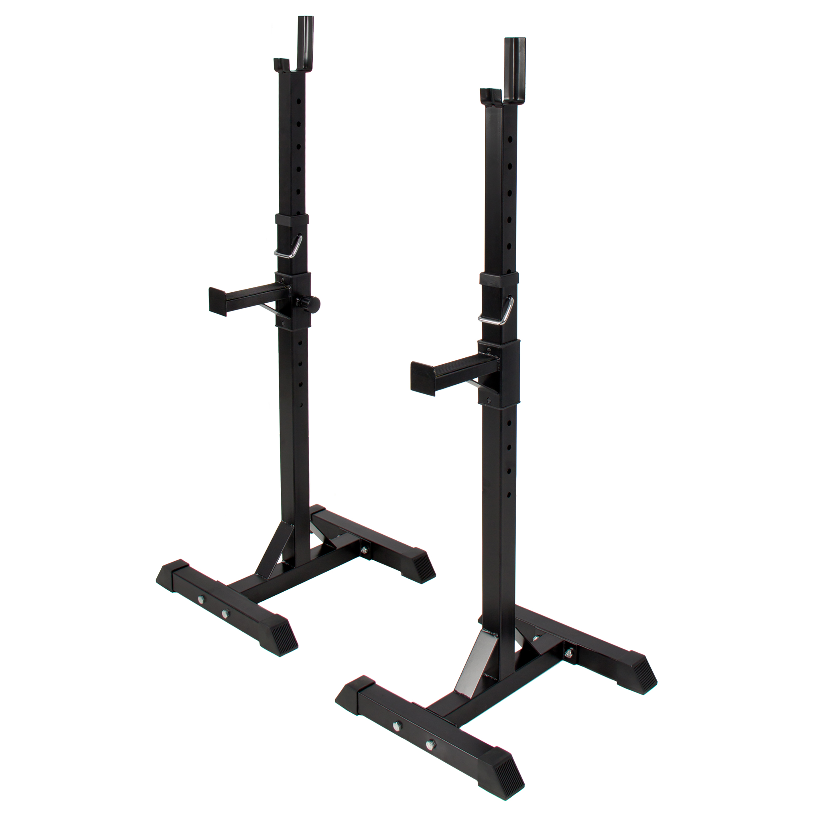 Best Choice Products 2-Piece Adjustable Standard Steel Barbell Rack Black by Best Choice Products