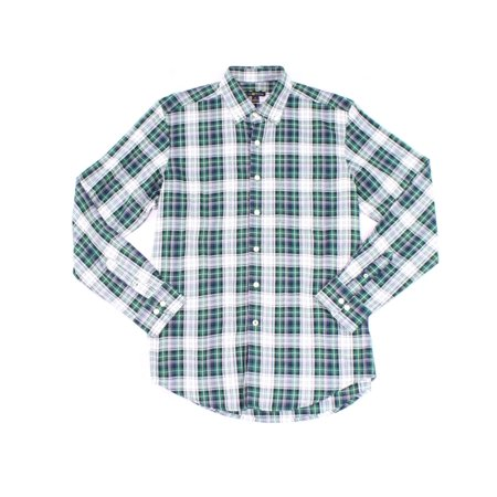 Classic Fit Green - NEW Green Mens Small S Classic Fit Plaid Button Down Shirt