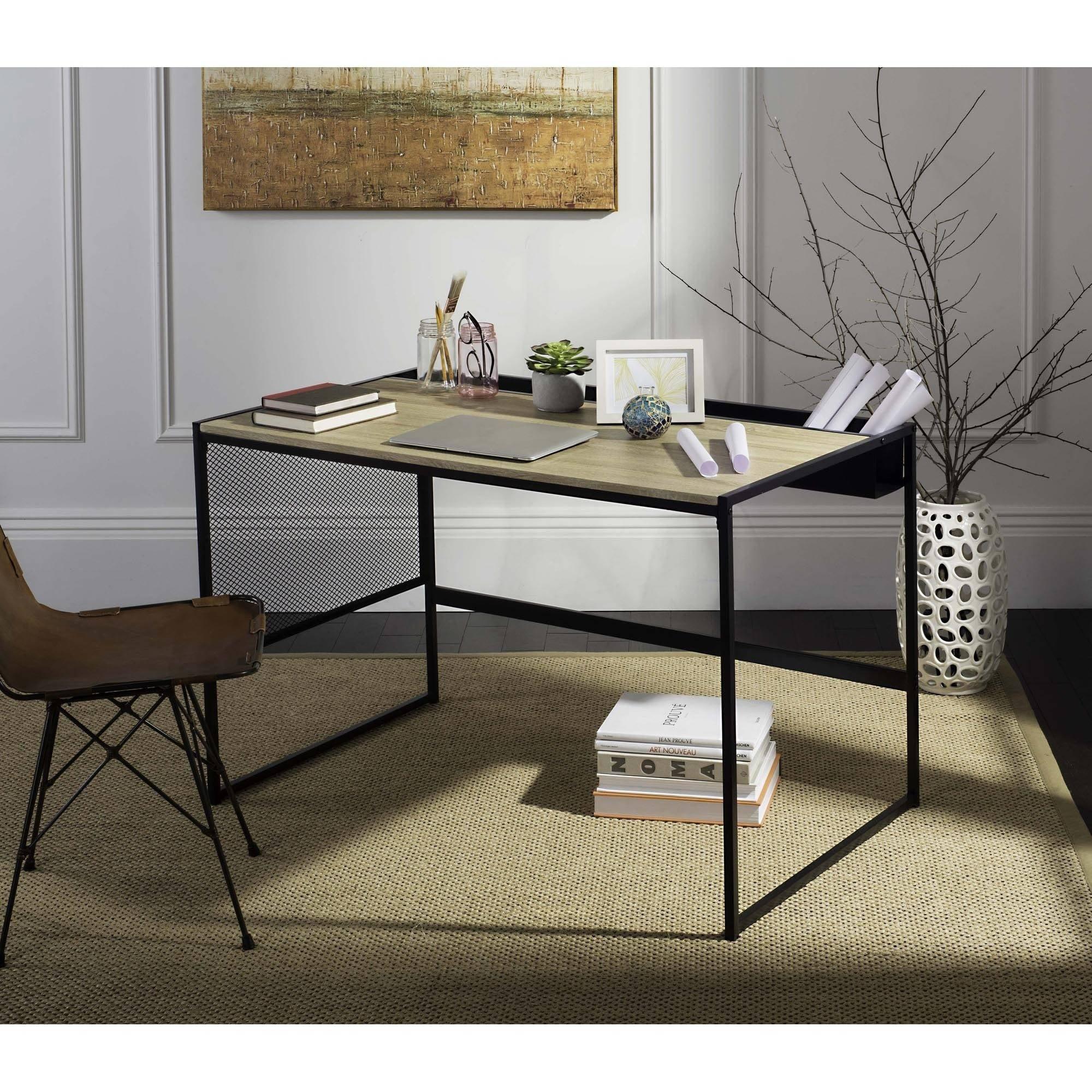 "Safavieh Aali 47"" Width Writing Desk, Black by Safavieh"