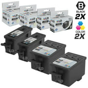 LD Compatible Replacement for Kodak 30XL / 30 4 Pk HY Cartridges Includes:2 1550532 Black & 2 1341080 Color for use in ESP C110, C310, C315, Office 2150, Office 2170, 3.2, & Hero 3.1, 4.2, & 5.1