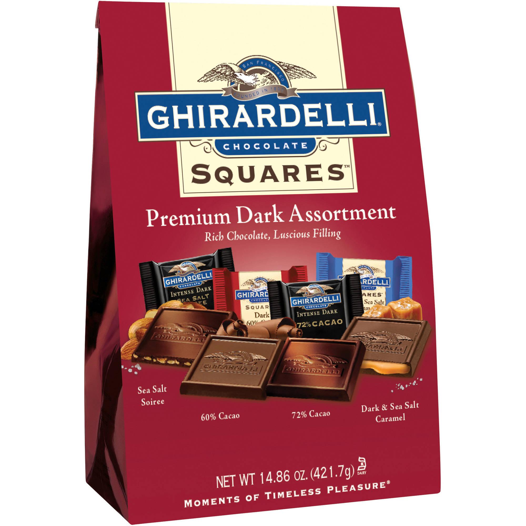 Ghirardelli Squares Premium Dark Chocolate Assortment, 16.71 oz ...